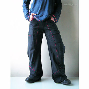 Treveller Bell Bottom pants -  Multi pockets  -  Groove Trousers  - Men's - Woman -   Hippie - Cargo - Fashion