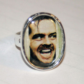 Customizable Silver Photo Ring