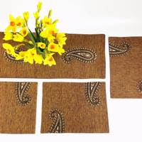 Brown Khadi Table Runner, Elegant Table Runner, Block Print Table Runner, Handloom Table Decor, Holiday Decor, Buffet Table Runner