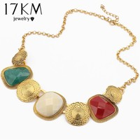 17KM Statement Necklace For Women Vintage Multicolor Geometric Choker Necklace Charm Boho Steampunk Maxi Collares
