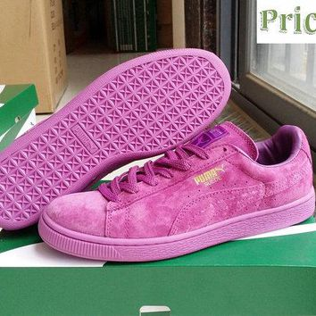 2018 Cheapest PUMA Clyde Platform Suede Classic Mono Iced purple sneaker