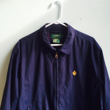 ralph lauren harrington tartan lined jacket / large
