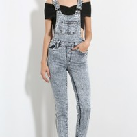 Mineral Washed Skinny Overall | MakeMeChic.com