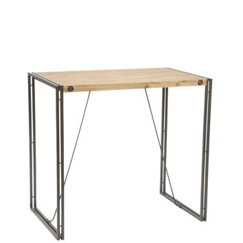 Brooklyn Bar Table Acacia Wood Powder Coated Steel