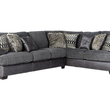 Skyline Drive Gray 2 Pc Sectional - Living Room Sets (Gray)