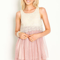 LACY TULLE DREAMER DRESS