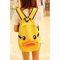Cute Duck Backpack for Lady