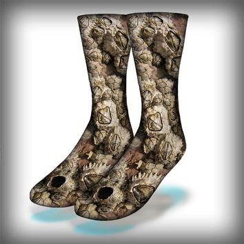 Barnacles Crew Socks Novelty Streetwear