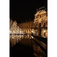 The Louvre at Night - 8x10 Fine Art Photograph - Paris Decor