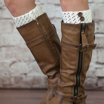 Classic Cuffs Boot Toppers 2 Button Knit by Modern Boho
