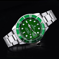 Rolex tide brand fashion men and women fashion watches F-SBHY-WSL Silver + Green Case + Green Dial
