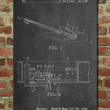 Floyd Rose Tremolo Patent Poster