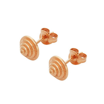 Rose Gold Staggered Point Studs by Matthew Calvin