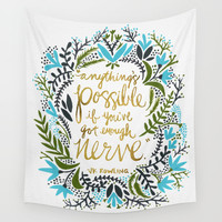 Anything's Possible Wall Tapestry by Cat Coquillette