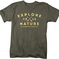 Shirts By Sarah Men's Explore Nature T-Shirt 2014 Camping Hiking Shirts