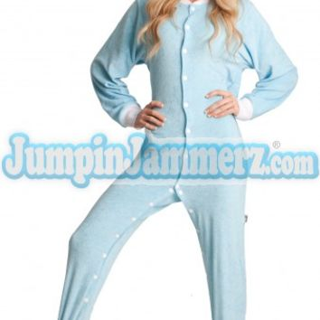 Terry Cloth Adult Footed Pajamas- Pajamas Classic PJs Onesuits One Piece Adult Pajamas - JumpinJammerz.com