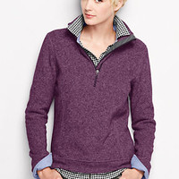 Women's Sweater Fleece Half-zip Pullover from Lands' End