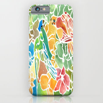 Parakeet Stain Glass iPhone & iPod Case by Rosie Brown