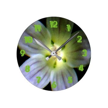 Circle of Light Wildflower Round Clock