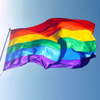 Hot Sale Rainbow Flags And Banners 3x5FT 90x150cm Lesbian Gay Pride LGBT Flag  Polyester Colorful Rainbow Flag For Decoration