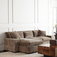 Old Hickory Tannery Lennox Left-Chaise Sectional