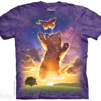 Kitten Cloud Kids T-Shirt