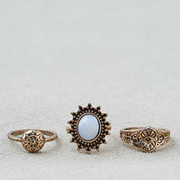 AEO Etched Details Ring 3-Pack , Gold