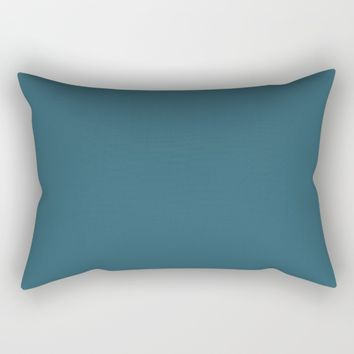 Teal The World (Blue) Rectangular Pillow by Moonshine Paradise