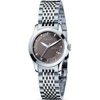 Gucci G-Timeless Stainless Steel Watch with Brown Dial, 38mm