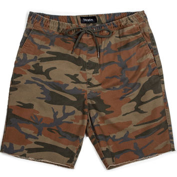 Brixton Men Madrid Relaxed Fit Drawstring Short Camo