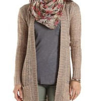 Marled Open Weave Cardigan by Charlotte Russe