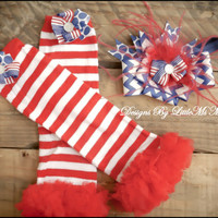"4th Of July Headband and Leg Warmers Set  ""Fourth N' Fancy"", Accessories for baby Girls and Girls  Childrens Clothes"