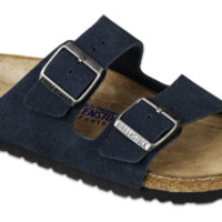 Arizona Soft Footbed Denim Suede Sandals | Birkenstock USA Official Site