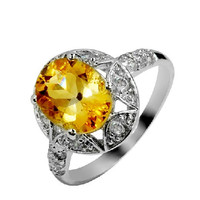 2.52ct Citrine silver ring