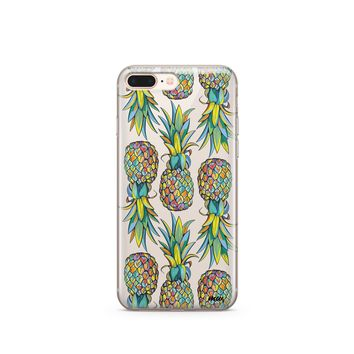 CLEARANCE iPhone 7 Clear Case Cover - Hawaiian Pineapple