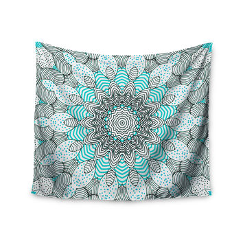 "Monika Strigel ""Dots and Stripes Mint"" Wall Tapestry"