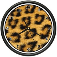 CHEETAH Wall Clock print pattern sheets bedroom decor
