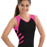 Athletic Modern V Neck Tank Leotard from GK Elite