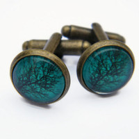Mens Cufflinks Silver Or Bronze , Fathers Day Gift , Mens Fashion Accessory