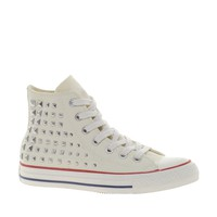 Converse All Star Collar Studs White High Top Trainers