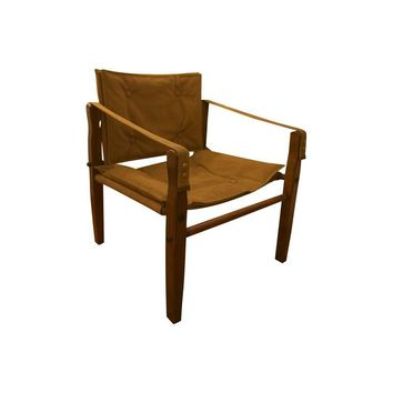 Pre-owned Campaign Vintage Sueded Leather Chair