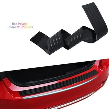 Car Styling Black Rubber Rear Guard Bumper Protector Trim cover For Renault Koleos Skoda octavia Fabia Superb Rapid Yeti