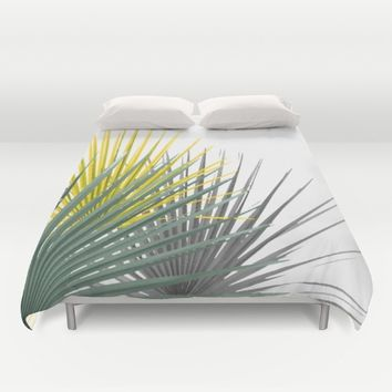 Palmas Duvet Cover by aRTsKRATCHES