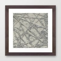 Sparkle Net Framed Art Print by Project M