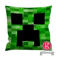 green creeper minecraft ugly Cushion Case / Pillow Case
