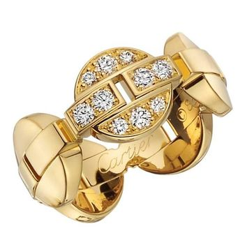 Cartier Himalia Diamond Yellow Gold Band Ring
