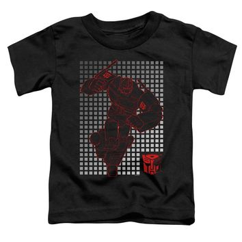 Transformers Toddler T-Shirt Optimus Prime Grid Black Tee
