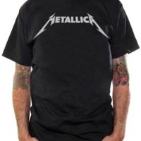 Metallica T-Shirt - Chrome Logo