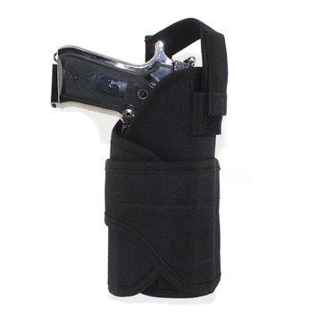 Molle Tactical Waist Pistol Holster Hidden Holster Pistol Carry Bag Adjustable Righthand Solid Gun Holster Pouch