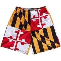 Multi Color Rasta Striped Sublimated Lacrosse Shorts